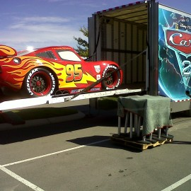 ST 3 Lightning McQueen on Gate