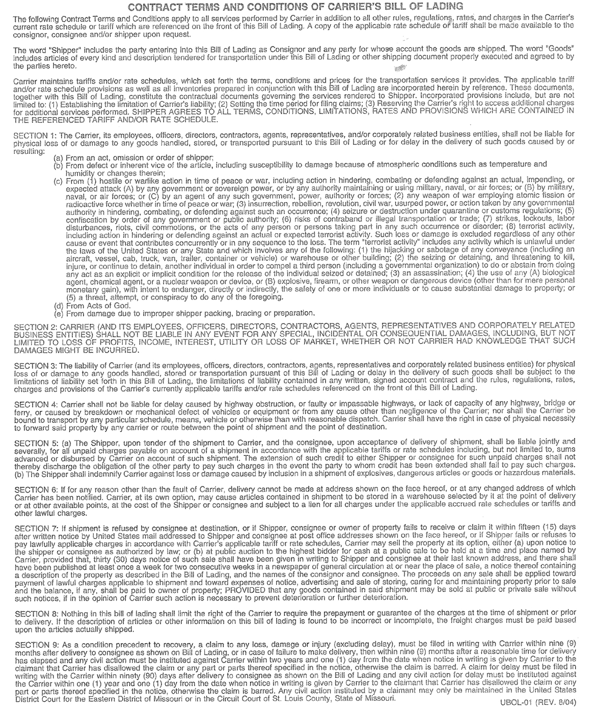contract_terms_and_conditions_of_carriers_bill_of_landing