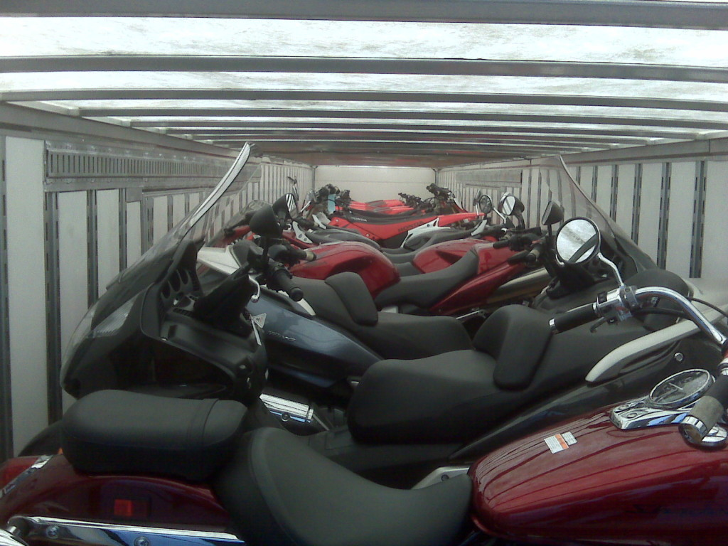 AM 3 Specialized Auto Transportation loaded motorcycles